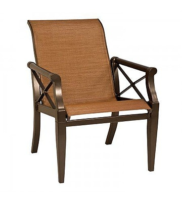 Woodard Andover Sling Patio Dining Chair; Caramel
