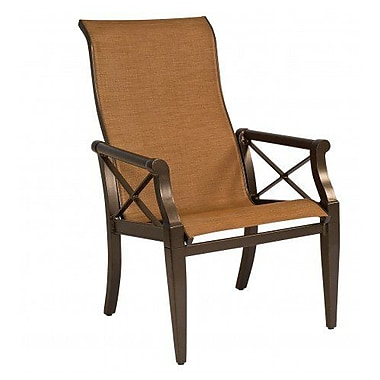 Woodard Andover Sling High-Back Patio Dining Chair; Porcelain