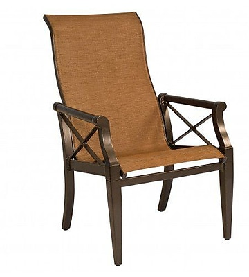 Woodard Andover Sling High-Back Patio Dining Chair; Augustine Pear
