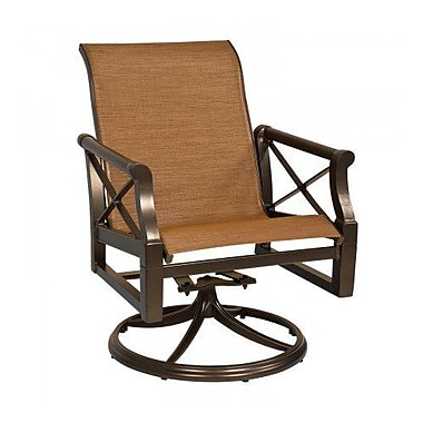 Woodard Andover Sling Rocker Swivel Patio Dining Chair; Chocolate Flex Sling