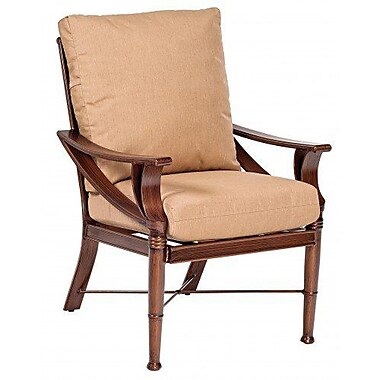 Woodard Arkadia Patio Dining Chair w/ Cushion; Fairmount