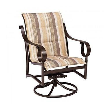Woodard Ridgecrest Padded Sling Swivel Rocking Chair; Platinum