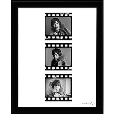 East Urban Home 'Mick Jagger Film Cell' Framed Graphic Art Print on Paper