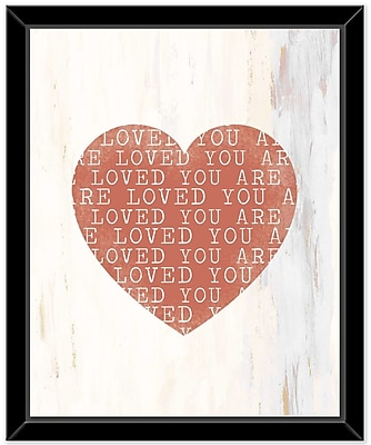 Ivy Bronx 'Heart 1' Framed Graphic Art Print on Glass