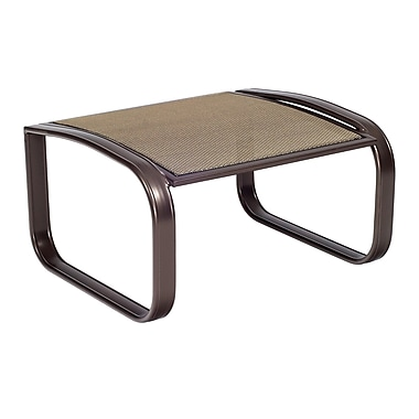 Woodard Cayman Isle Flex Ottoman; Chocolate Flex Sling