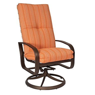 Woodard Cayman Isle High-Back Swivel Rocking Chair w/ Cushions; Canvas Navy