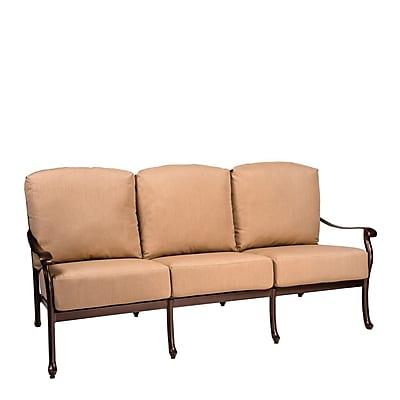 Woodard Casa Sofa w/ Cushions; Canvas Heather Beige
