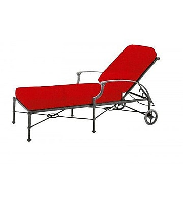 Woodard Delphi Adjustable Chaise Lounge w/ Cushion; Summit Spark