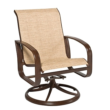 Woodard Cayman Isle Sling Swivel Rocking Chair; Charcoal Flex Sling