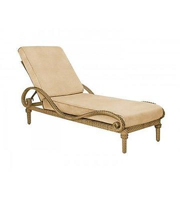 Woodard South Shore Adjustable Chaise Lounge w/ Cushion; Canvas Chestnut