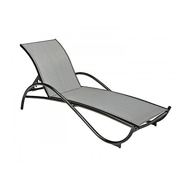 Woodard Tribeca Adjustable Stacking Chaise Lounge; Sailing Salt