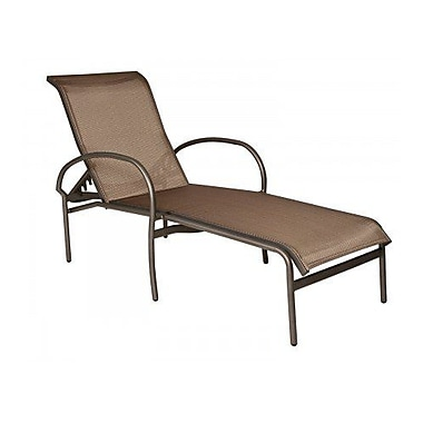Woodard Rivington Sling Adjustable Stacking Chaise Lounge; Augustine Amethyst