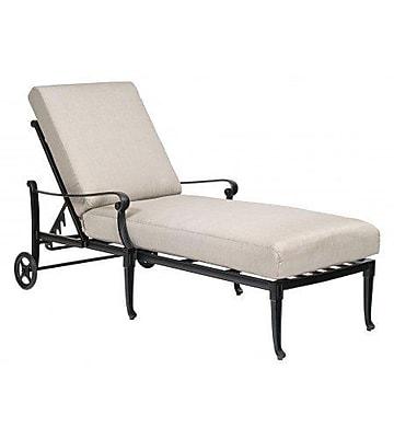 Woodard Wiltshire Adjustable Chaise Lounge w/ Cushion; Summit Peony