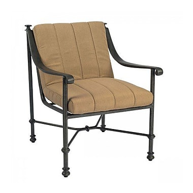 Woodard Nova Patio Dining Chair w/ Cushion; Paris Blush