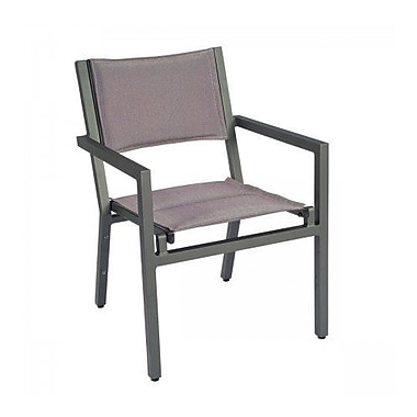 Woodard Palm Coast Padded Sling Stacking Patio Dining Chair; Augustine Pear