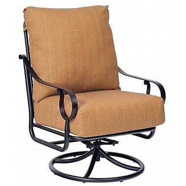 Woodard Ridgecrest Extra Large Swivel Rocking Chair w/ Cushions; Canvas Heather Beige