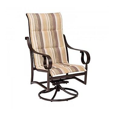 Woodard Ridgecrest Padded Sling High-Back Swivel Rocking Chair; Chocolate Flex Sling