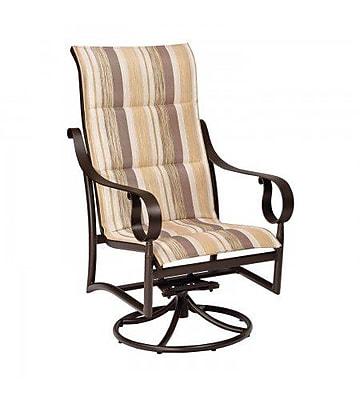 Woodard Ridgecrest Padded Sling High-Back Swivel Rocking Chair; Garnet Flex Sling