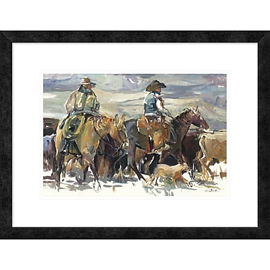 East Urban Home 'The Roundup' Framed Print; 12'' H x 18'' W