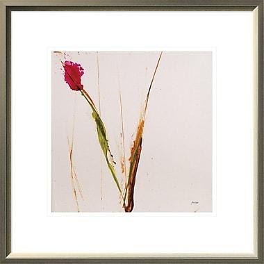 East Urban Home 'Pink Buds I' Framed Print; 12'' H x 12'' W