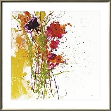 East Urban Home 'Flower Tango on White' Framed Print; 30'' H x 30'' W