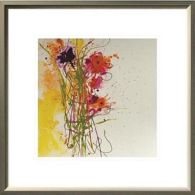 East Urban Home 'Flower Tango' Framed Print; 12'' H x 12'' W