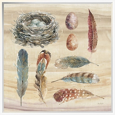 East Urban Home 'Spiced Nature X' Framed Graphic Art Print; 24'' H x 24'' W