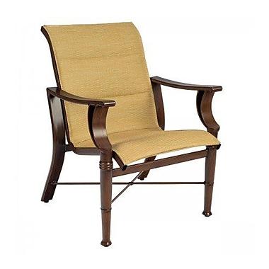 Woodard Arkadia Padded Sling Patio Dining Chair; Augustine Gravel