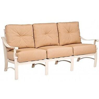 Woodard Bungalow Sofa w/ Cushions; Canvas Navy