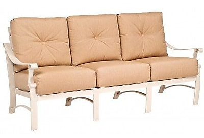 Woodard Bungalow Sofa w/ Cushions; Canvas Dusk