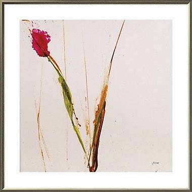 East Urban Home 'Pink Buds I' Framed Print; 30'' H x 30'' W