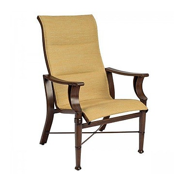 Woodard Arkadia Padded Sling High-Back Patio Dining Chair; Chocolate Flex Sling