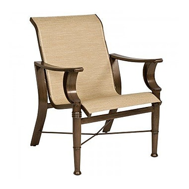 Woodard Arkadia Sling Patio Dining Chair; Pewter