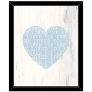 Ivy Bronx 'Heart 3' Rectangle Framed Graphic Art Print on Glass