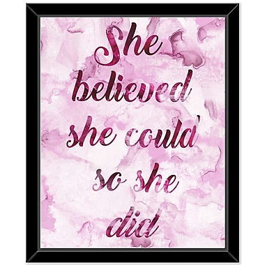 Ivy Bronx 'She Believe 3' Framed Textual Art on Canvas
