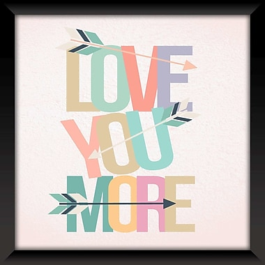 Ivy Bronx 'Love You' Framed Textual Art on Glass