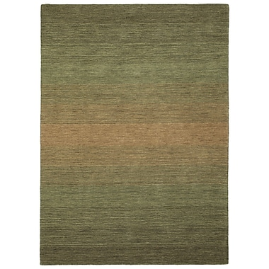 Darby Home Co Corbyn Hand Tufted Wool Green Area Rug; 7'6'' x 9'