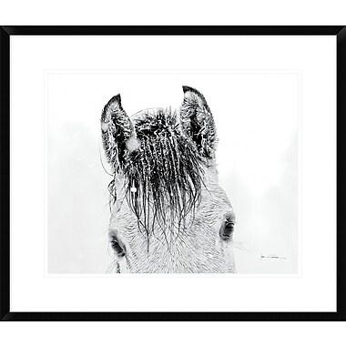 East Urban Home 'Snow Daze II Crop' Framed Photographic Print; 16'' H x 20'' W