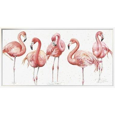 East Urban Home 'Gracefully Pink VIII' Framed Print; 18'' H x 36'' W