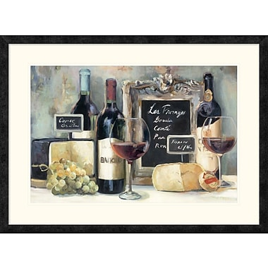 East Urban Home 'Les Fromages Crop' Framed Print; 20'' H x 30'' W
