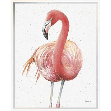 East Urban Home 'Gracefully Pink IV' Framed Print; 24'' H x 20'' W