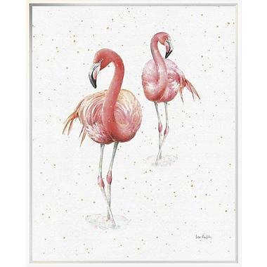 East Urban Home 'Gracefully Pink IX' Framed Print; 35'' H x 28'' W