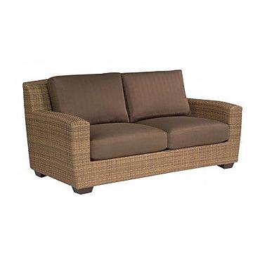 Woodard Saddleback Loveseat w/ Cushions; Bevel Indigo