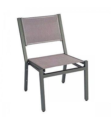 Woodard Palm Coast Stacking Patio Dining Chair; Augustine Amethyst