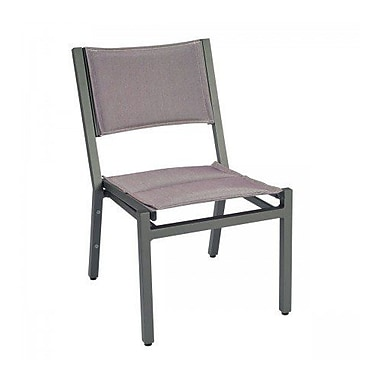Woodard Palm Coast Padded Sling Stacking Patio Dining Chair; Augustine Alloy