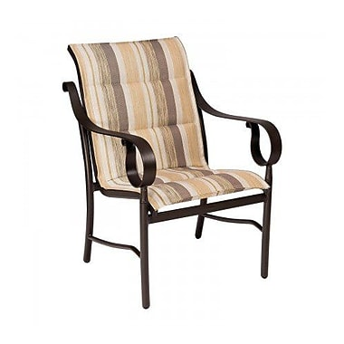 Woodard Ridgecrest Padded Sling Patio Dining Chair; Porcelain