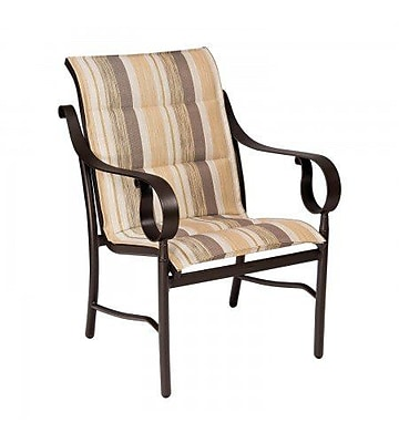 Woodard Ridgecrest Padded Sling Patio Dining Chair; Sailing Salt