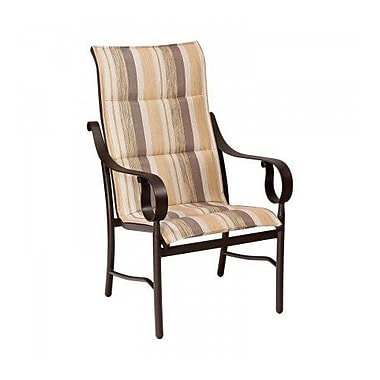Woodard Ridgecrest Padded Sling High-Back Patio Dining Chair; Augustine Gravel