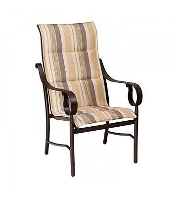 Woodard Ridgecrest Padded Sling High-Back Patio Dining Chair; Platinum