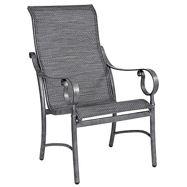 Woodard Ridgecrest Sling High-Back Patio Dining Chair; Augustine Frost